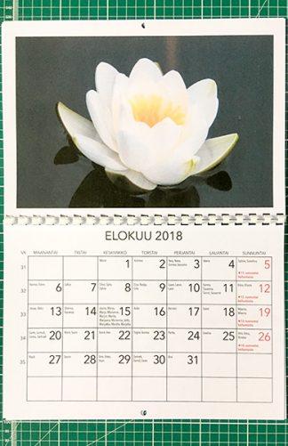 Kalenteri A3-kierreselkä