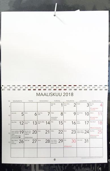 Kalenteri omille kuville