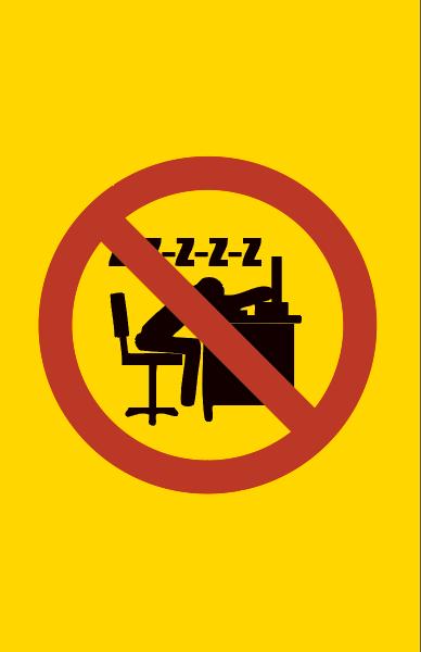 Kielletty nukkuminen työpaikalla
