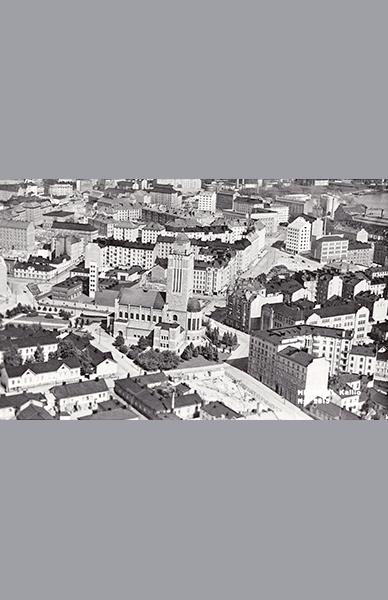 Kallio ilmakuvassa 1935 – Veljekset Karhumäki Oy / Helsingin kaupunginmuseo
