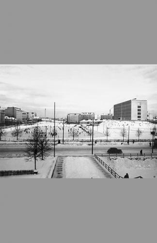 Kallion urheilukenttä 1938 – Aarne Pietinen / Helsingin kaupunginmuseo