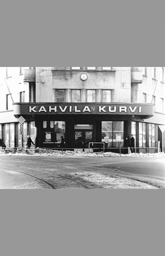 Kahvila Kurvi 1970 – Mainosrengas Oy / Helsingin kaupunginmuseo