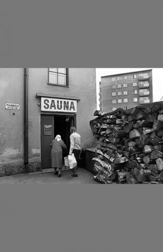 Kolmannen linjan sauna 1976 – Nils Andersson / Helsingin kaupunginmuseo