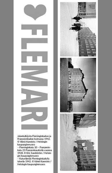 Kirjanmerkki Flemari © Väinö Kannisto, Eric Sundström / Helsingin kaupunginmuseo
