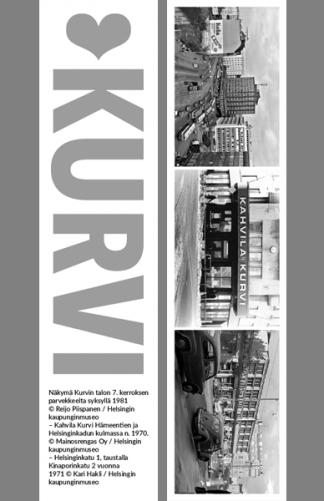 Kirjanmerkki Kurvi © Reijo Piispanen, Mainosrengas Oy, Kari Hakli / Helsingin kaupunginmuseo