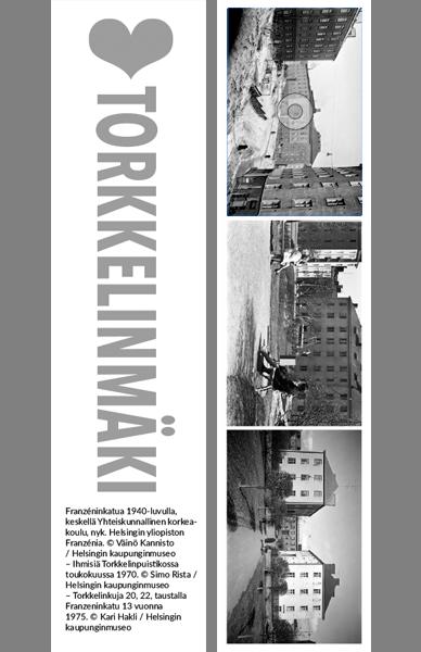 Kirjanmerkki Torkkelinmäki @ Väinö Kannisto, Simo Rista, Kari Hakli / Helsingin kaupunginmuseo