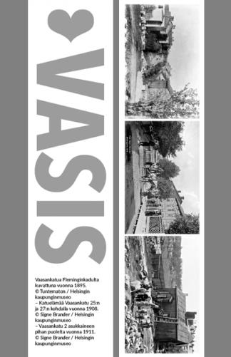 Kirjanmerkki Vasis © Tuntematon, Signe Brander / Helsingin kaupunginmuseo