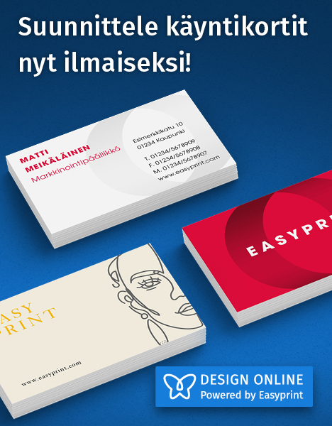 Suunnittele käyntikortit nyt ilmaiseksi – EasyPrint